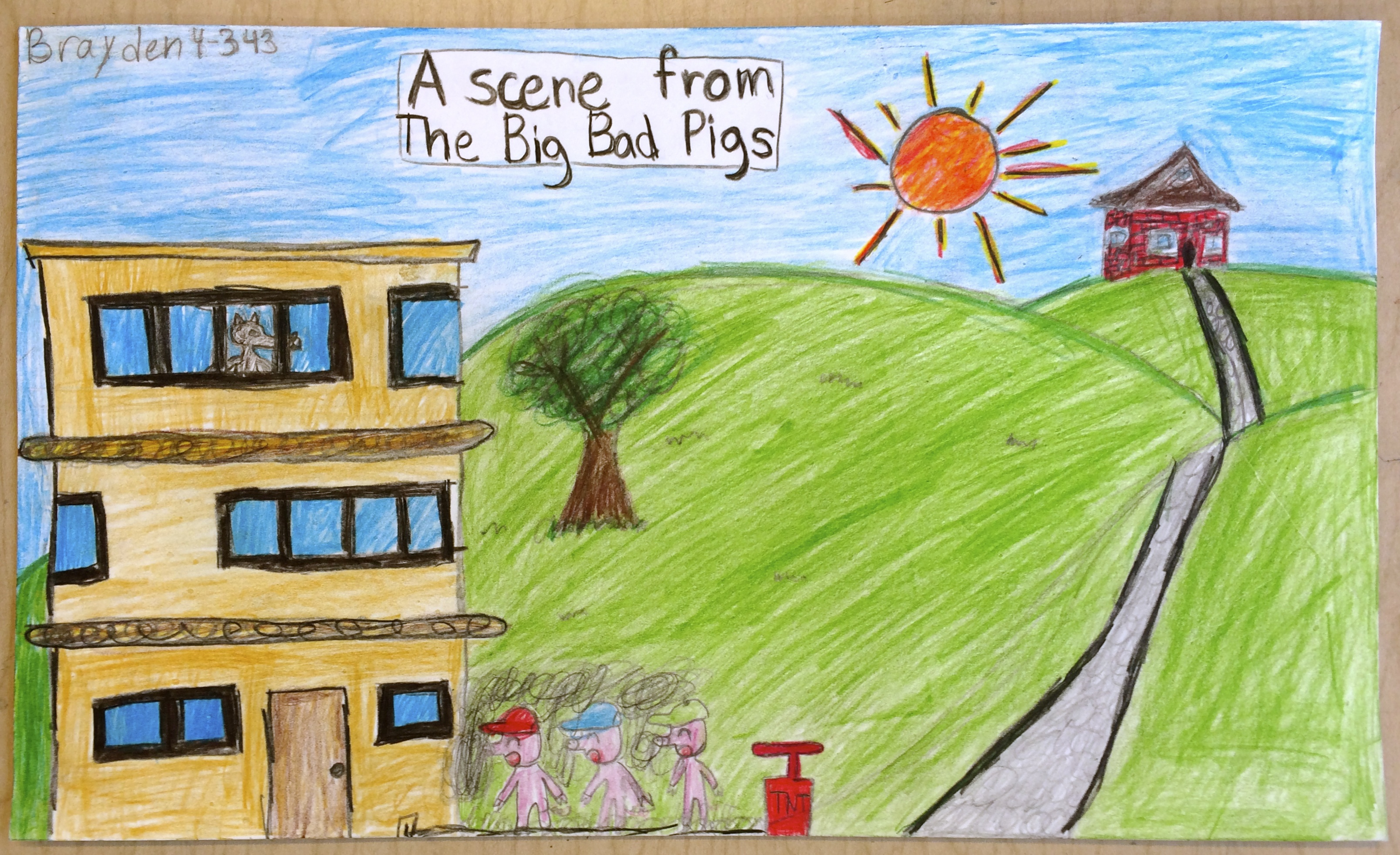 """""""Three Little Pigs."""" Fairy Tales With A Twist (Grades 3-4)"""
