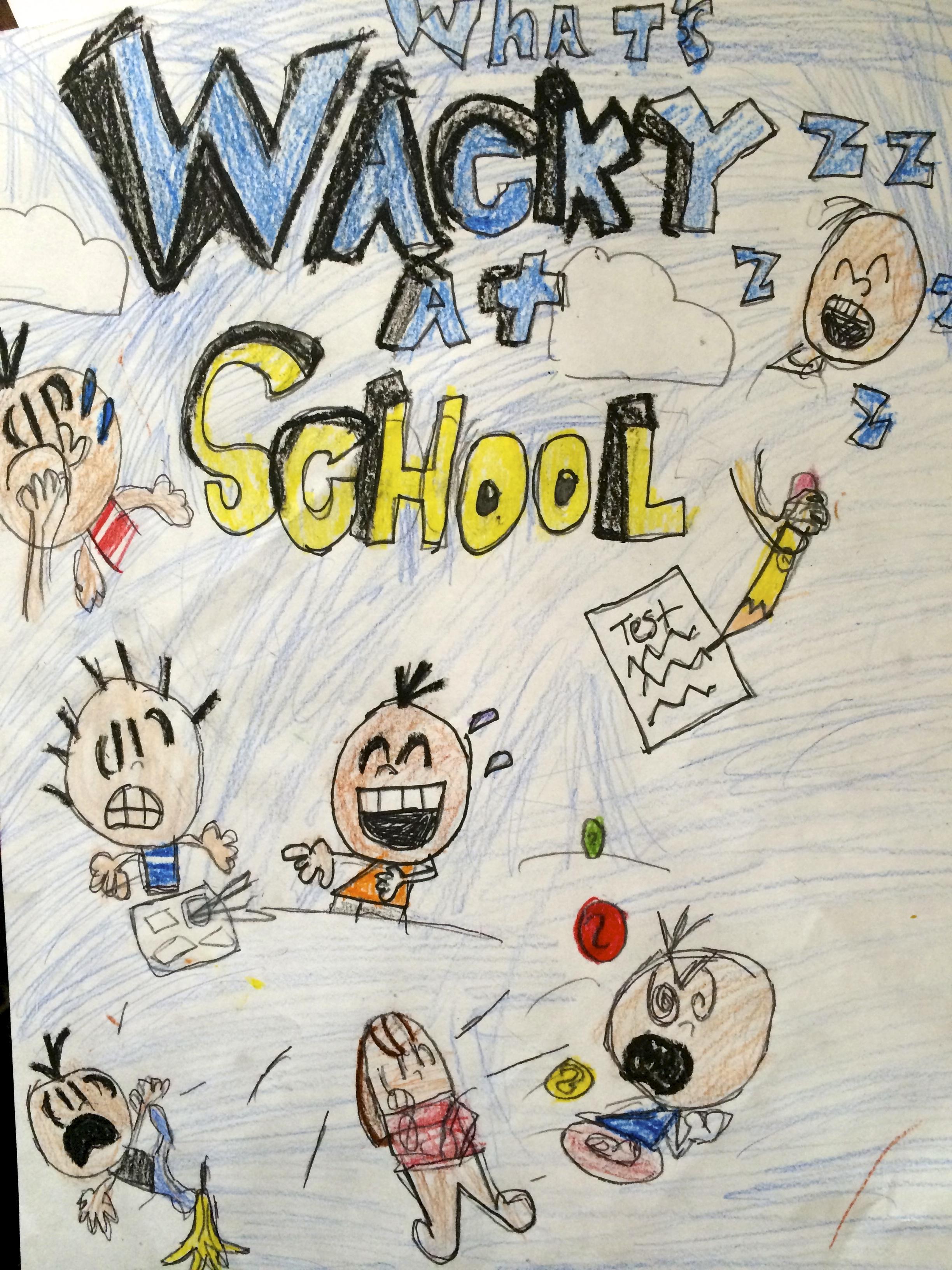 """""""Wacky At School."""" Original Comic Art (Grade 5)"""