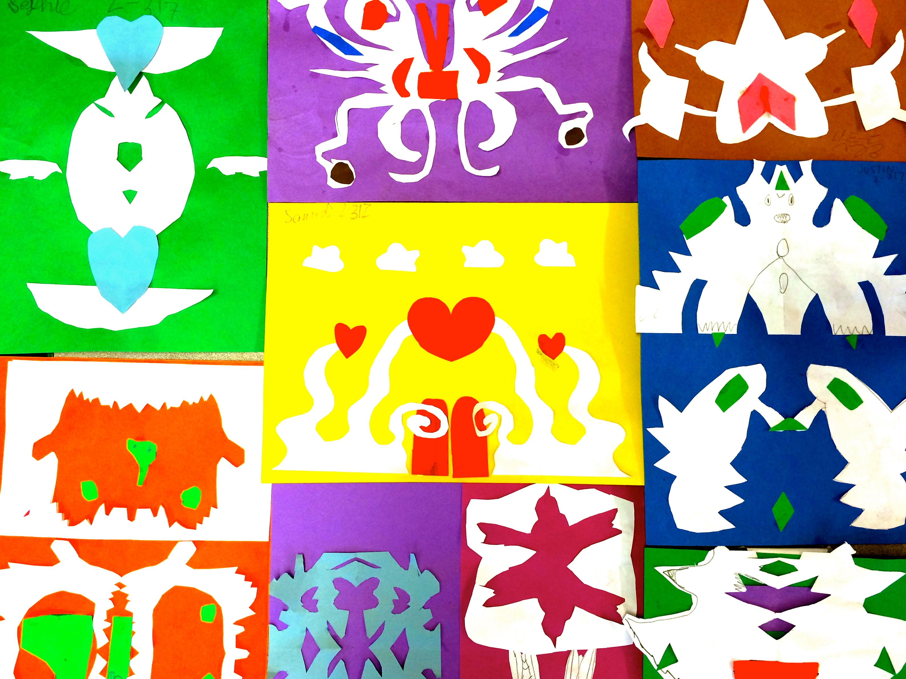 Symmetry Art/Cutouts (Grade 2)